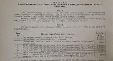 Закуп места за Петровдан